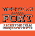 western typeface alphabet with latin vector image vector image