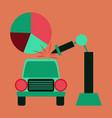 flat icon on stylish background automotive vector image