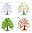 Tree in the seasons vector image