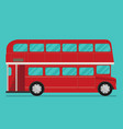 a of a red london bus vector image vector image