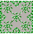 abstract triangle snowflake pattern in green vector image vector image