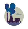 Air pollution banner Factory with smoke stack vector image