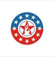 America Star Circle USA logo icon vector image vector image
