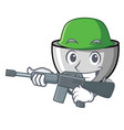 army juicer character cartoon style vector image vector image