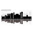 asuncion paraguay city skyline black and white