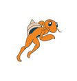 athletics hermit crab character vector image vector image