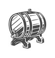 barrel black and white vector image vector image