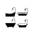 bathtub icon design template isolated