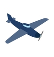 Blue plane icon isometric 3d style vector image vector image