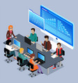 business seminar conference in office with charts vector image vector image