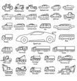 car icon set outline automobile cars vector image vector image