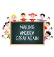 Children american patriotic education concept