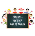children american patriotic education concept vector image vector image