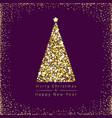 christmas tree gold vector image