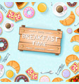 colorful breakfast template vector image vector image
