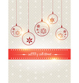 creative merry christmas design vector image vector image