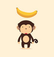Cute monkey with banana