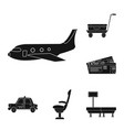 design of airport and airplane symbol vector image