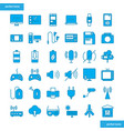 device and technology blue icons set style vector image vector image