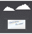 Dont worry be happy Positive poster vector image