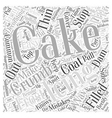 Easy Solutions To Common Cake Decorating Mistakes vector image vector image