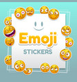 emoji stickers background abstract background vector image vector image