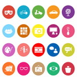 Favorite and like flat icons on white background vector image vector image