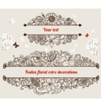 Festive retro floral frames vector image