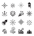 firework icons set 2 vector image vector image