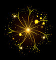 fireworks bursting in glowing yellow thin star on vector image