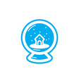 flat color snowball icon vector image vector image