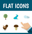 flat icon bio set of tributary champignon vector image vector image