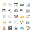flat set of finance icons vector image vector image