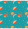 Floral ornament with berry vector image