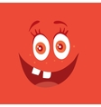 Funny Smiling Monster Red Smile Bacteria Character vector image vector image