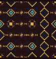 geometric ethnic seamless pattern vector image vector image