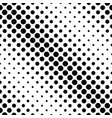 geometrical monochrome seamless circle pattern vector image vector image