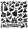 ghosts - doodles set vector image vector image