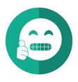 grimacing face emoticon funny shadow vector image vector image