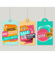 half price hanging label special sale paper vector image