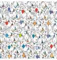 Happy birthday seamless pattern Cartoon funny vector image