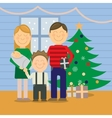Happy family at Christmas greeting card vector image vector image