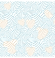 Heart stripes seamless background pattern vector image vector image