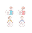 idea rfp and face recognition icons skin vector image vector image
