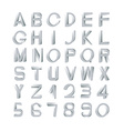 Impossible font set vector image vector image