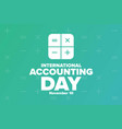 international accounting day november 10 holiday