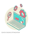 Isometric design modern concept of website vector image vector image