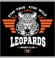 leopards - custom motors club t-shirt logo vector image vector image