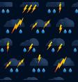 lightning cloud rain seamless pattern thunder vector image vector image