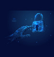 lock low poly touch vector image vector image